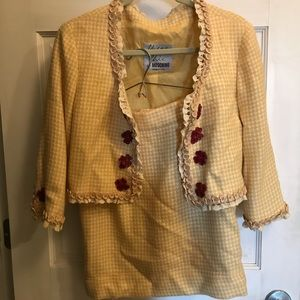 """Moschino cheap & chic skirt suit yellow 28"""" waist"""